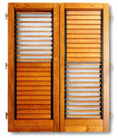 Shutters with blinds for timber windows